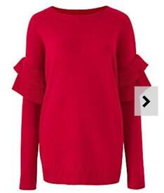 Ruffle sleeve jumper New with tags