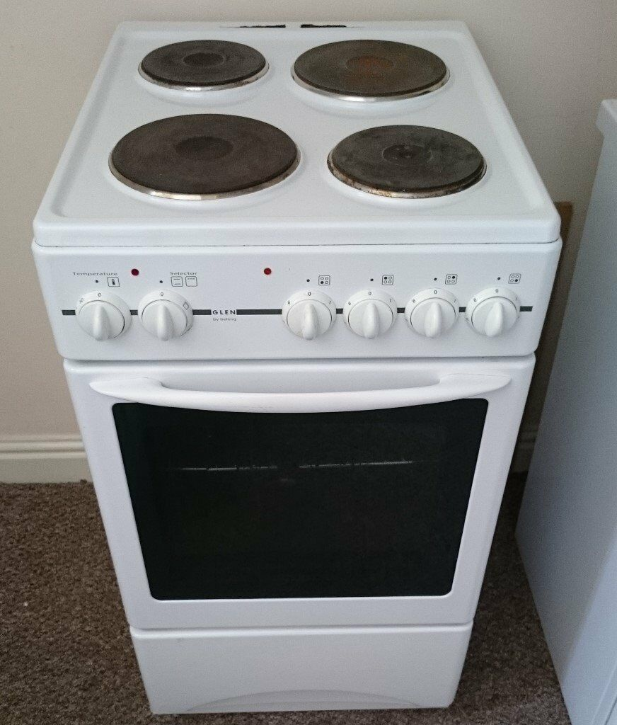 Single Oven With Grill Part - 28: In Bideford A Glen (Belling) 4 Hob Freestanding 50cm Electric Single Oven  And Grill