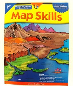Map Skills Grade 2nd 3rd teacher resource activity book geography/language/math