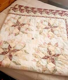 Double quilted throw