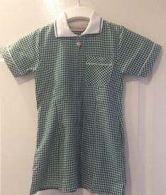 Girls Green Gingham Summer Dress age 4 yrs