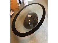 Black/Glass Oval Coffee Table