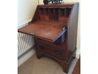 Antique Traditional Oak Bureau with drawers - ideal for Tablet or Laptop use.
