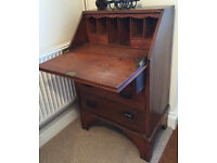 Antique Traditional Oak Bureau with drawers - ideal for Tablet / Laptop