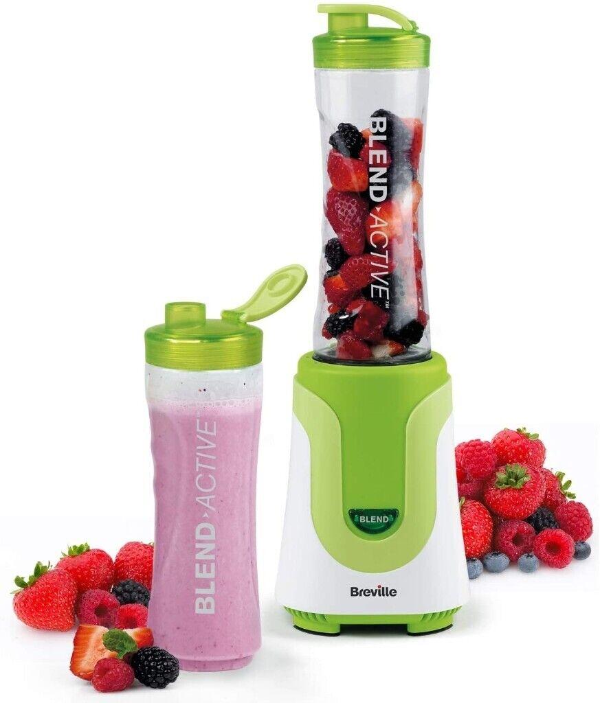 Breville Blend Active Personal Blender & Smoothie Maker with 2 Portable Blending Bottles, Green | in Stratford, London | Gumtree