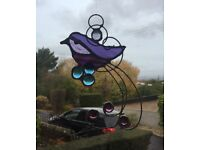 Stain glass bird hanging decorations