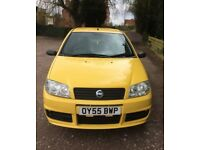 2005 FIAT PUNTO. Yellow manual hatchback, 1.2l petrol