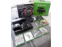 Xbox One 500GB with Kinect, 7 games & Racing Wheel & Pedals