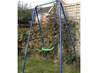 Children's swing (colourful/single seat) suit to 12 years