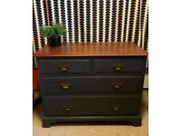 Large solid grey chest of drawers