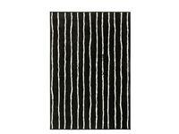 Ikea GÖRLÖSE Rug, low pile, black/white - Good As New!