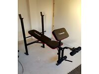 Maxi muscle Weight Bench with leg curl