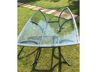 Garden table - Glass Top, 6/8 seater