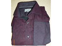 Ted Baker Classic Fit maroon paisley shirt