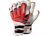 Reusch Goaliator Pro Goalkeeper Gloves-Size 8-Fire Red/White/Gold