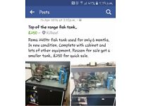 Top of the range Roma fish tank for sale.