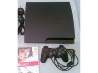 Sony PS3 Slim +1 Controller + 2 Games (Uncharted 3, Mirrors Edge)