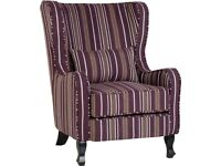 Armchair plus footstool