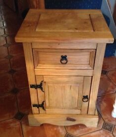Mexican Style Carona Pine Bedside Cabinets x 2
