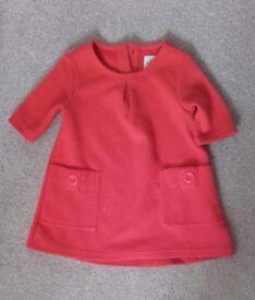 Next orange girls dress size 18-24 months