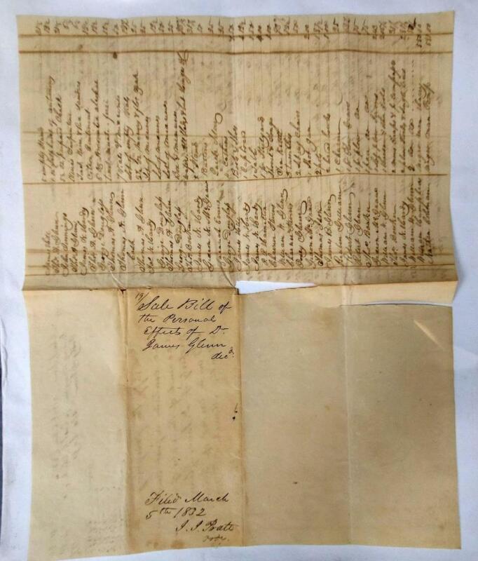 1832 Southern SC Plantation Estate Slave Manuscript Harry & Pomp the Slaves