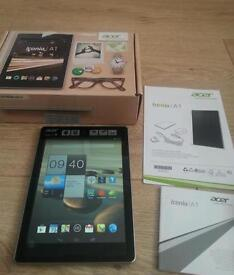 Acer Iconia A1 tablet complete with manual booklet inbox