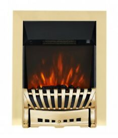 Focal Point Fluless Brass Fronted Gas Fire