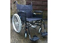 Heavy Duty Wheelchair FREE DELIVERY Self Propelled Extra Wide Mobility Chair Recovery Carer Home Car