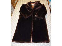 Vintage fur coat, beaver lamb, Royal Castor