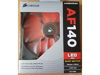 Corsair AF140 Red LED Fan 140mm Quiet Edition £10 Pickup