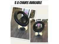 5 x hairdressing salon styling chairs