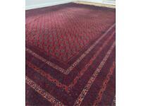 Authentic Persian Afghani Rug Handmade 100% Silk