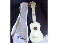 White Shine 4 string Ukulele