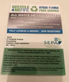 FREE SCRAP METAL UPLIFT SERVICE FIFE AREA