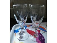 Four fluted glasses