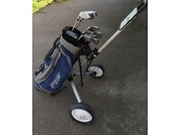 Full Pro golf set inc bag and trolly
