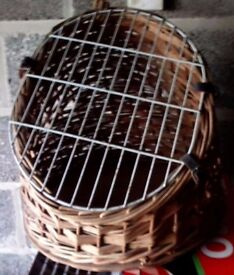Wicker Basket to carry a cat