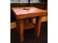 Reclaimed solid wood coffee / side table