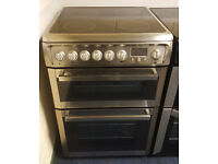 £190 Stainless Steel Hotpoint 60cm Ceramic Cooker – 12 Months Warranty