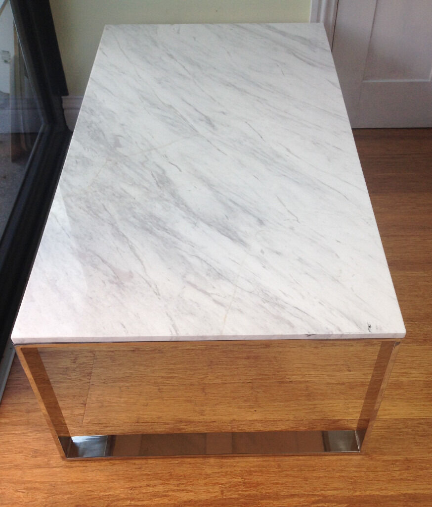 Folding side table john lewis - John Lewis Marble Coffee Table Ex Display In Good Condition