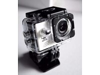 Sports Action Video Camera (gopro type) with attachments and charger. WV10 White.