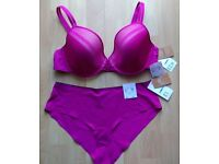 CHANTELLE purple/dark pink underwear set