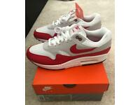 Nike air max 1 30th anniversary uk 9 red/white Brand new Dswt