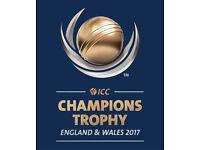ICC Champions Trophy Cricket Tickets 2017 - 1st Semi Final - Cardiff Wales Stadium