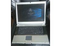 Rock Clevo M38AW Windows 10 Home Pentium M Laptop Widescreen NVidia GPU Cheap