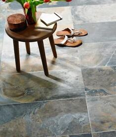 Floor wall tiles Slate design Indas rust 17 / 18 square meters from topps tiles over £730 worth new