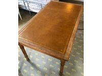 Antique writing desk with beautiful leather tooled top