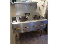 Chinese Wok Cooker 3 Burner VGC Complete Refurbished