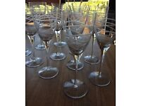 12 HAND CRAFTED WINE GLASSES IMMACULATE CONDITION..£15 THE LOT!