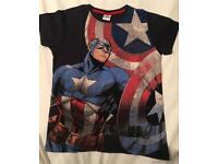 Next Captain America t shirt age 8